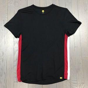 Body Glove Black Red Stripe Short Sleeve Shirt